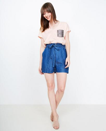 Short met paperbag waist